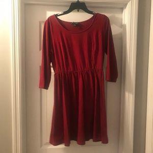 Maroon Empire Waist Dress in Women